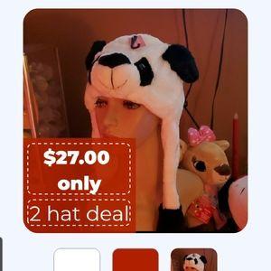 Lol so cute winter panda hat 👂 go up with push